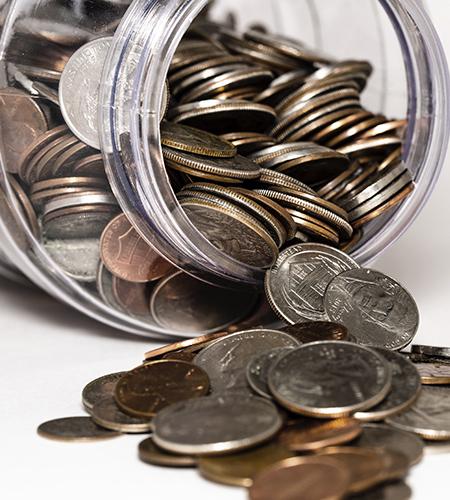 Jar of quarters